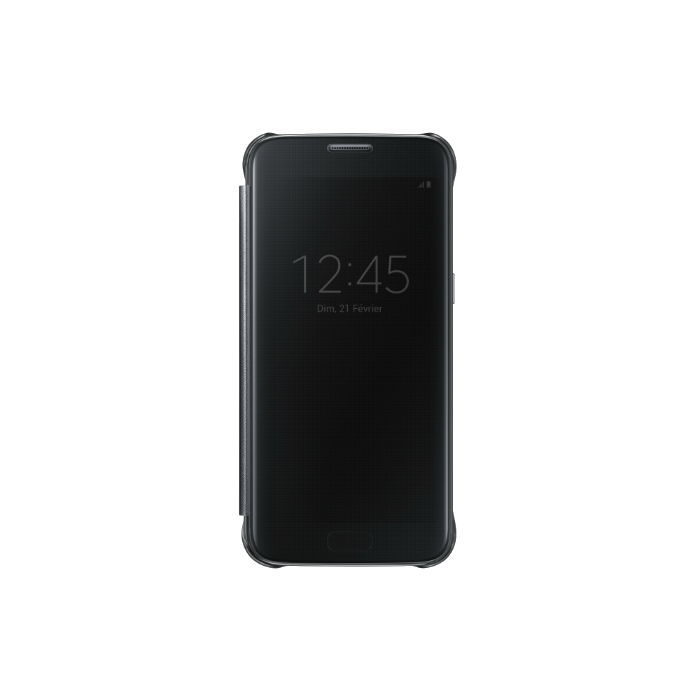 Samsung Etui folio Clear view pour Galaxy S7 Edge Noir