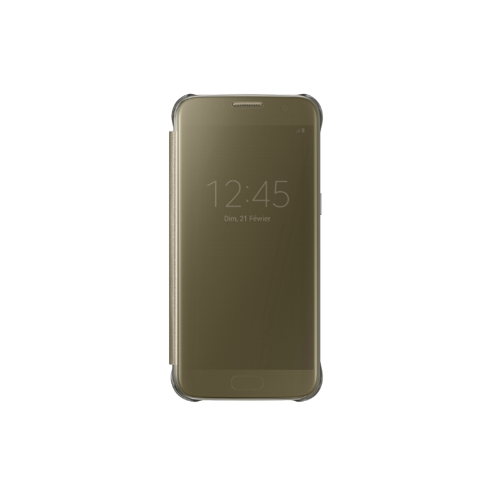 Samsung Etui folio Clear view pour Galaxy S7 Edge Or