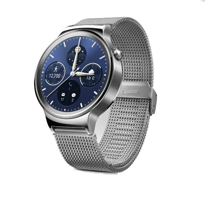 Huawei Montre connectée Huawei Watch Classic Silver Bracelet Milanais