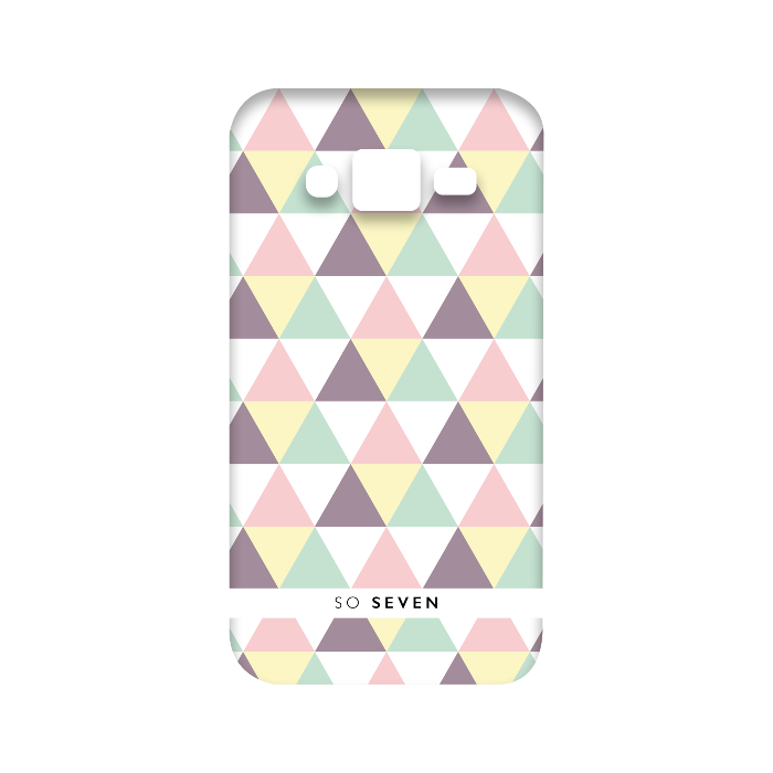 So Seven Coque graphique pastel triangle pour Galaxy J3 2016