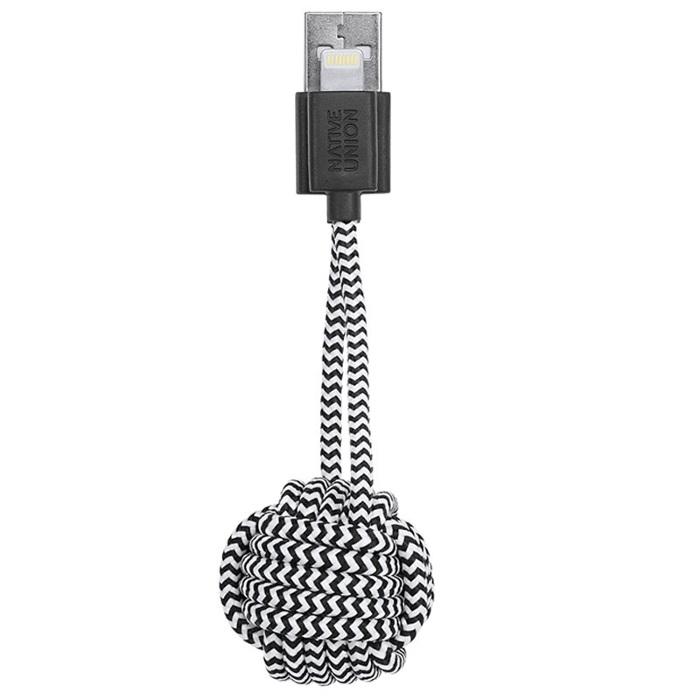 Native Union Porte-clés lightening Key Cable Zebra