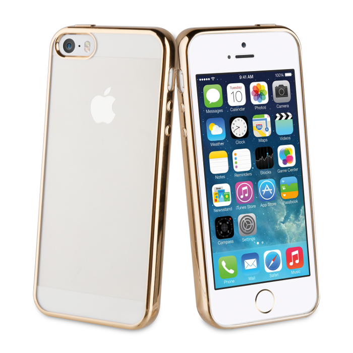 Muvit Life Coque Bling pour Iphone 5/5S/SE Or