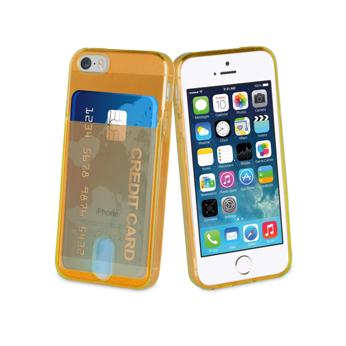 Muvit Life Coque PassPass pour Iphone 5/5S/SE Orange Fluo