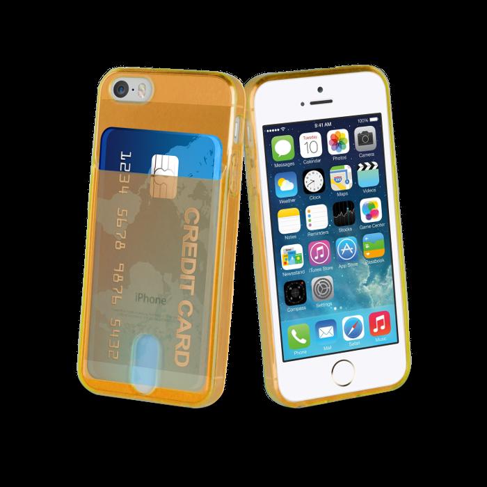 Muvit Life Coque PassPass pour Iphone 5/5S/SE Orange Fluo