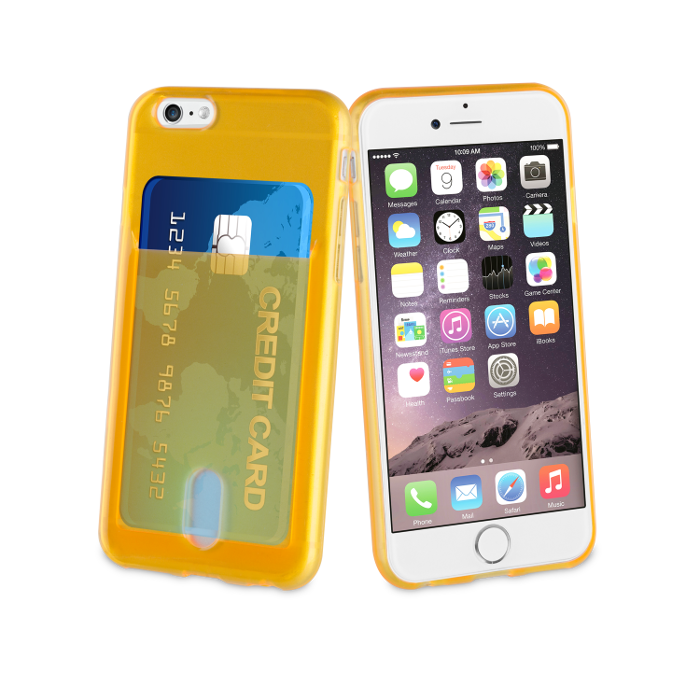 Muvit Life Coque PassPass pour Iphone 6/6S Orange Fluo