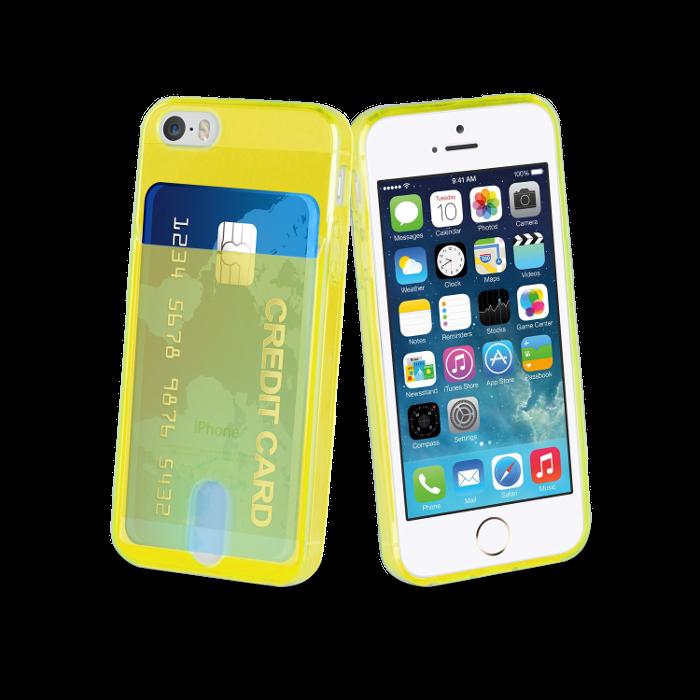 Muvit Life Coque PassPass pour Iphone 5/5S/SE Jaune fluo