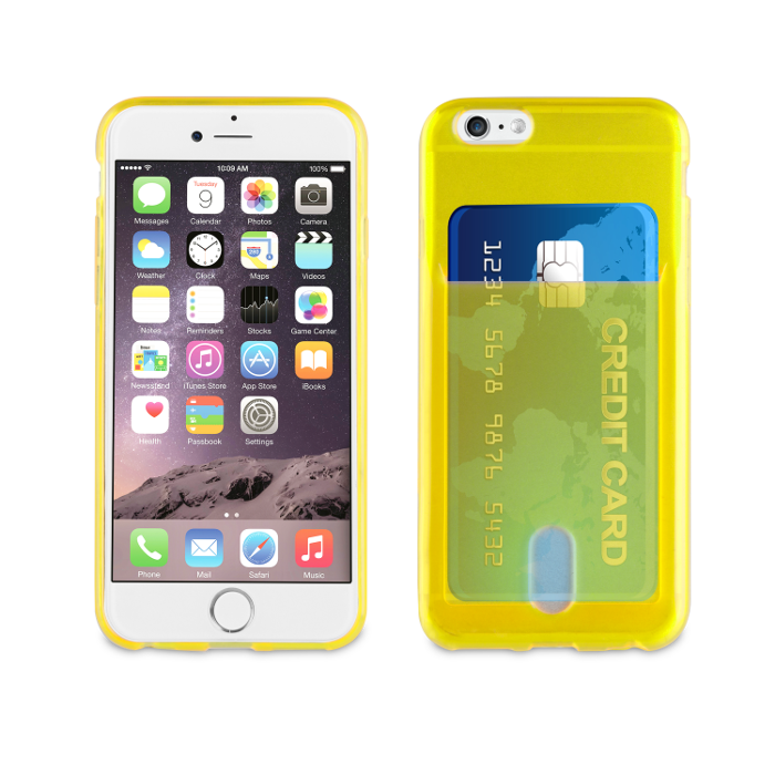 Muvit Life Coque PassPass pour Iphone 6/6S Jaune Fluo