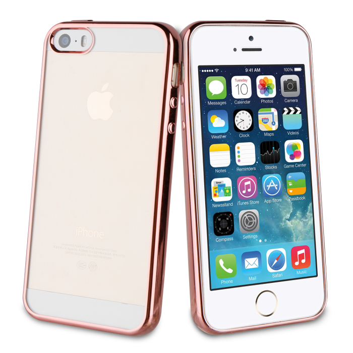 Muvit Life Coque Bling pour Iphone 5/5S/SE Rose Or
