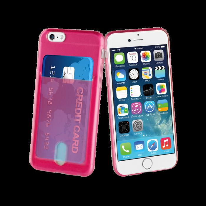 Muvit Life Coque PassPass pour Iphone 5/5S/SE Rose Fluo
