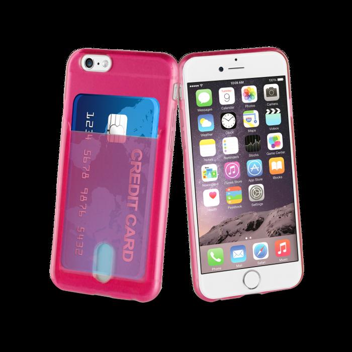 Muvit Life Coque PassPass pour Iphone 6/6S Rose Fluo