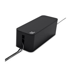 Boîte de rangement pour câbles et chargeurs Noir