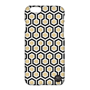 Coque Midnight Hexagonal pour iPhone 6/6S Blanc