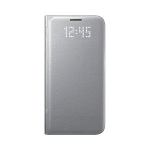 Etui folio Led View Cover Galaxy S7 Argent