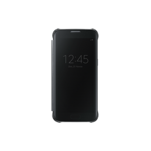 Etui folio Clear view pour Galaxy S7 Edge Noir