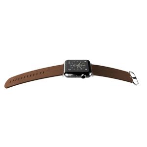 Bracelet luxe cuir Marron pour Apple Watch 42mm