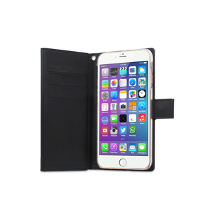 Etui folio wallet pour Iphone 7+/6+/6S+ Noir