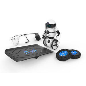 Megapack Robot connecté Mip avec une rampe, une batterie et un pneu Blanc