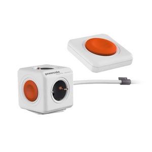 Multiprise compact avec bras articulé et télécommande Blanc