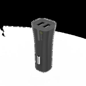 Chargeur voiture 2 ports USB 2,4 Noir