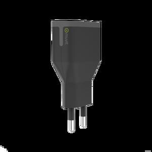 Chargeur secteur 2 ports USB 2,4A Noir