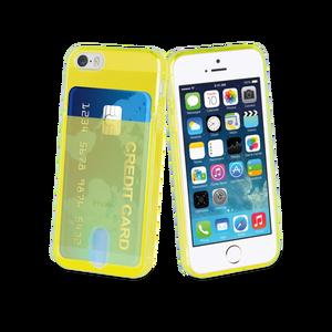 Coque PassPass pour Iphone 5/5S/SE Jaune fluo