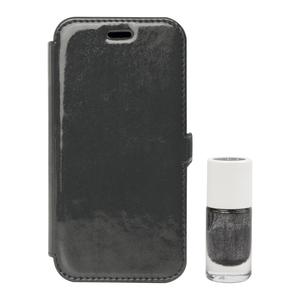 Étui folio et vernis assorti pour iPhone 6/6S Gris