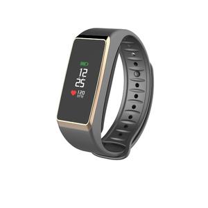 Tracker d'activité avec capteur de rythme cardiaque intégré Zefit 2 Pulse Gris Or