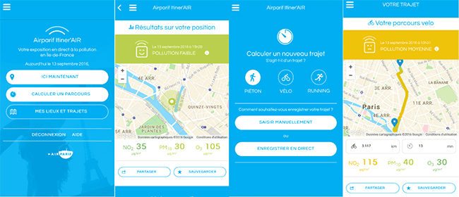 Application Itiner Air sur android