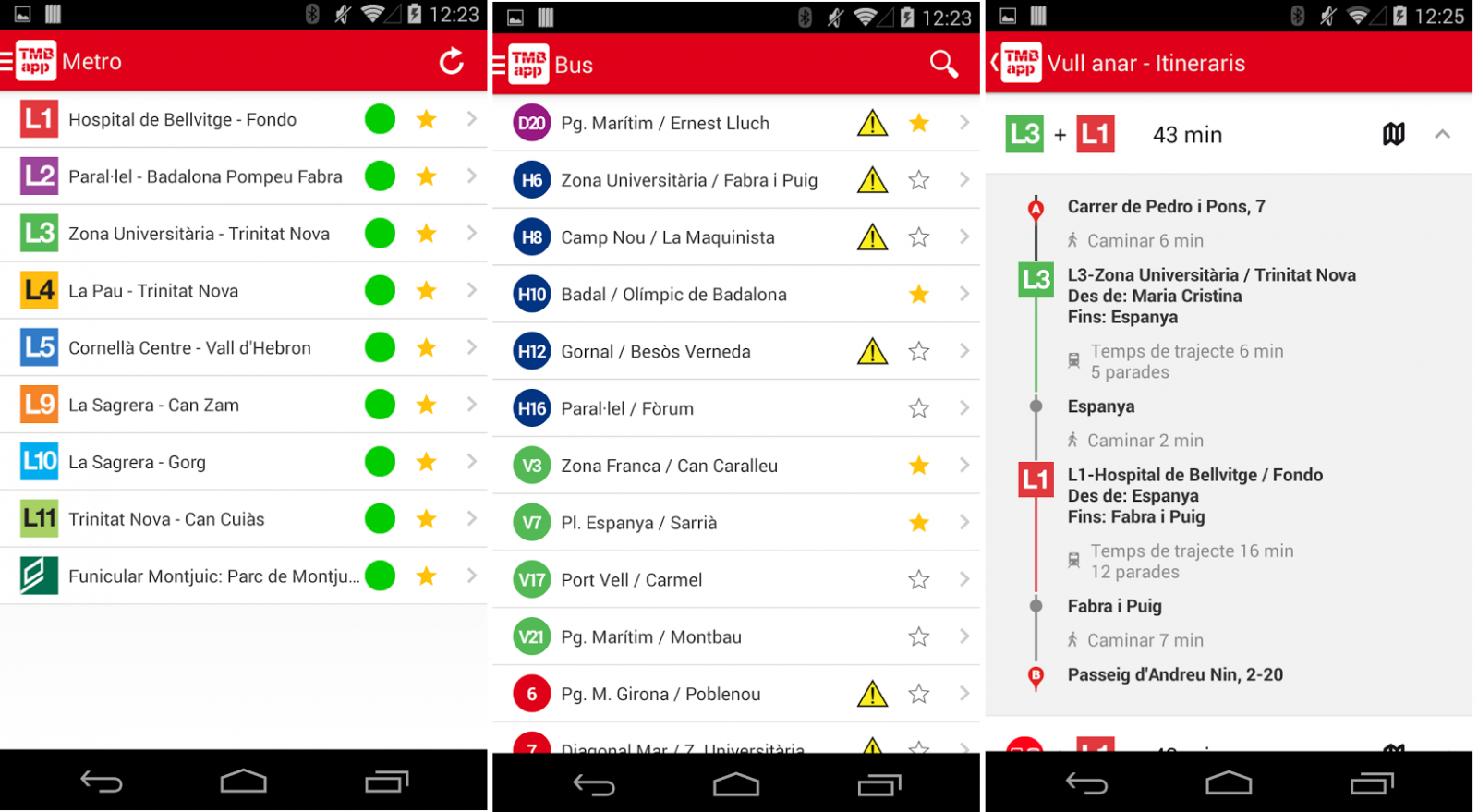 Application Android utile pour se deplacer