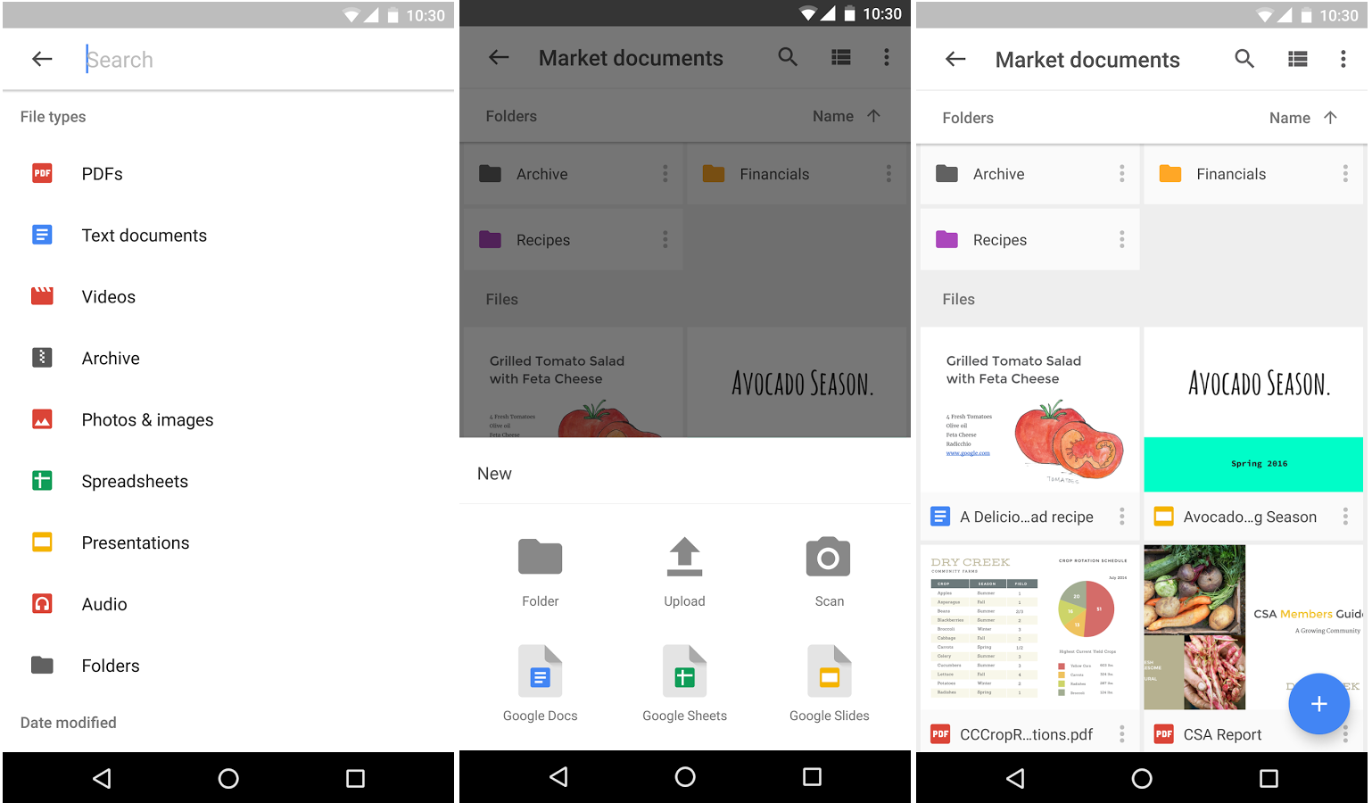 Applciation Google Drive sur Android