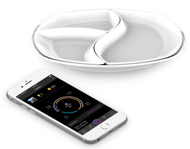 Assiette connectée SmartPlate pour maigrir