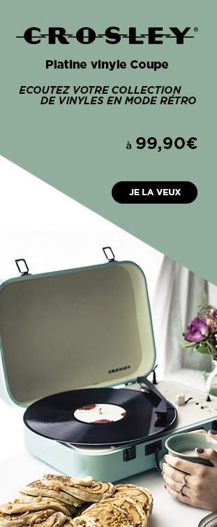 Platine vinyle Coupe Noir