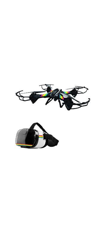 Pack drone Falcon avec casque VR Noir