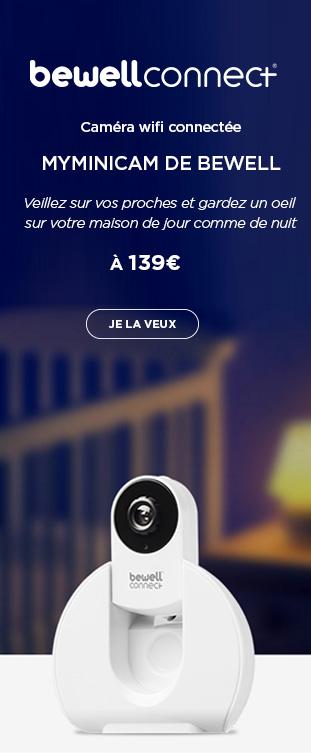 Caméra wifi Peer to Peer connectée MyMiniCam Blanc