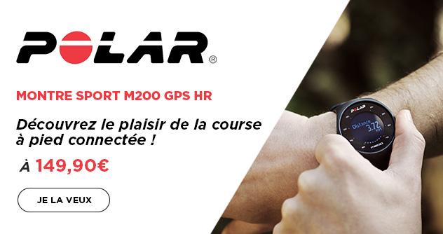 M200 montre sport GPS HR (M/L) Noir