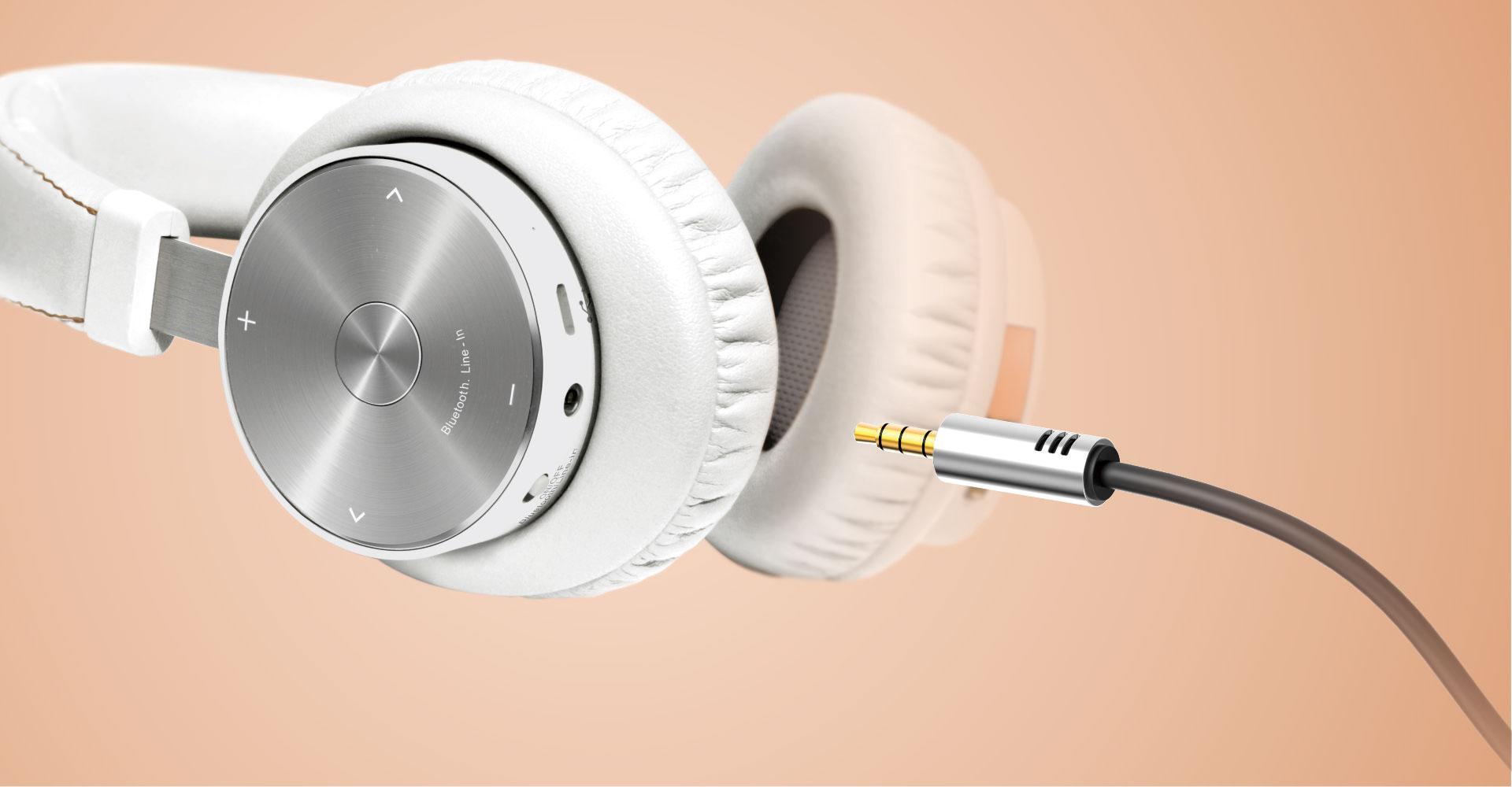 Casque BTX-500 de Mipow avec cable stereo integre