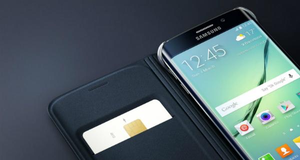 Etui flip wallet pour Samsung Galaxy S6 Edge Plus