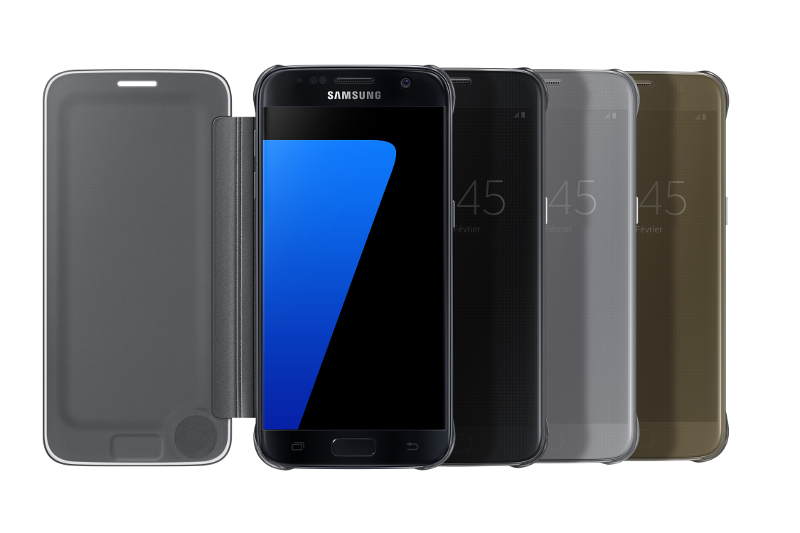Etui clearview pour Samsung S7