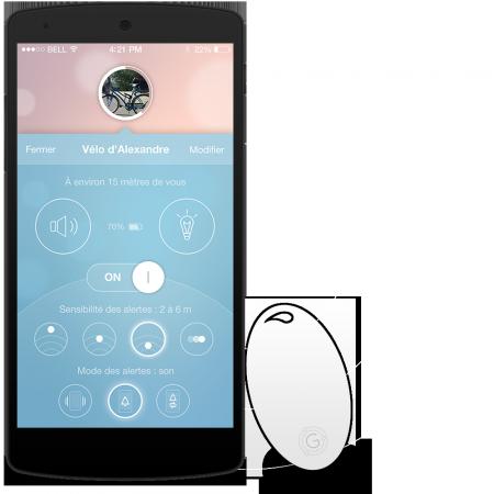 Gablys Premium tracker d objets avec barriere virtuelle