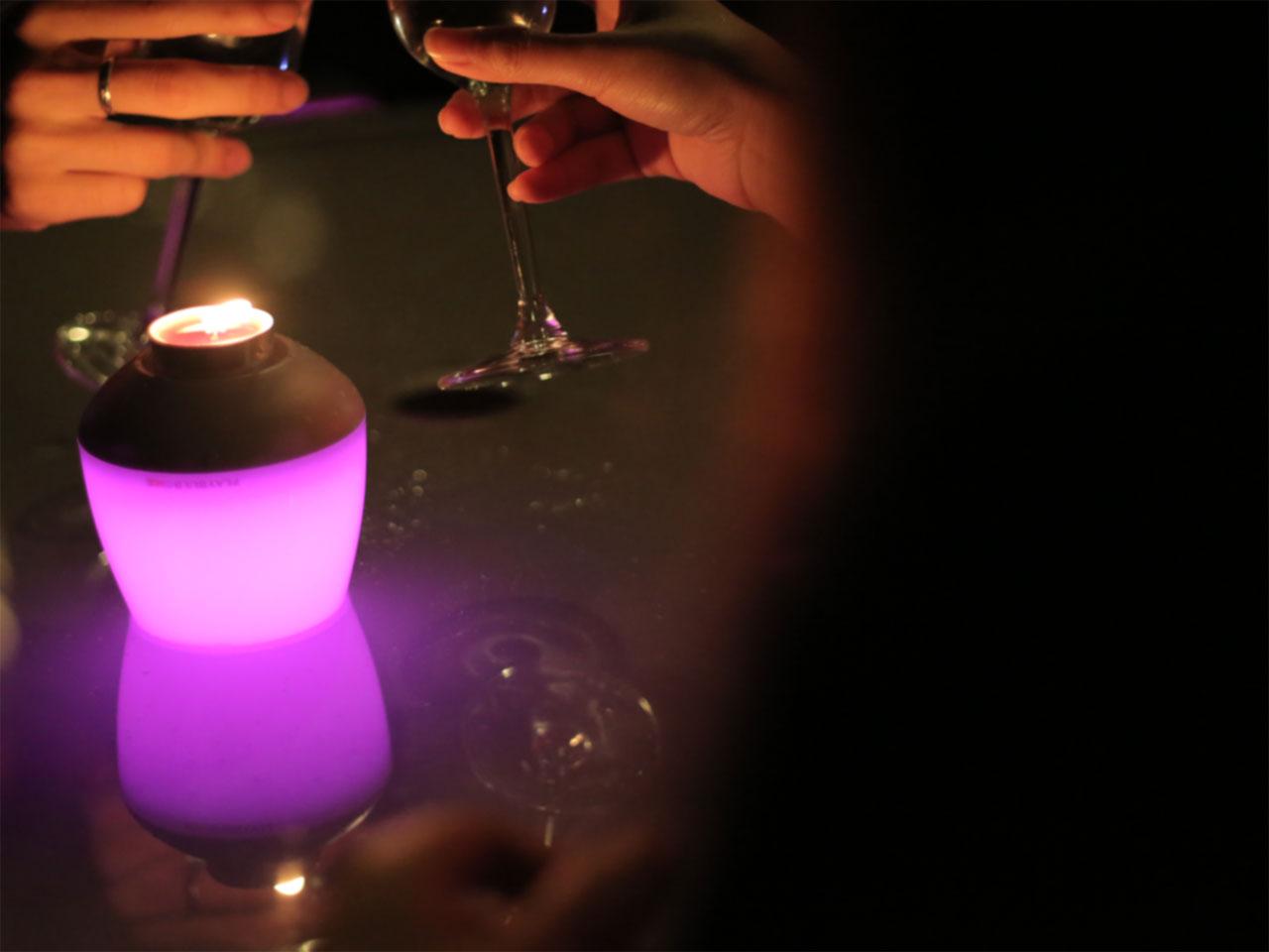 Ampoule bougeoir Candle de Mipow
